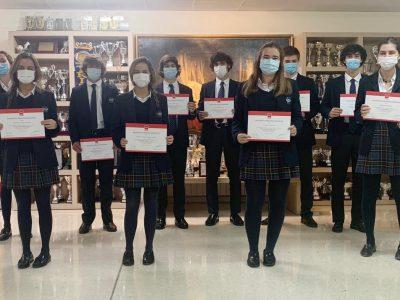 alumnos de Highlands que han obtenido Mención Honorífica de la Comunidad de Madrid